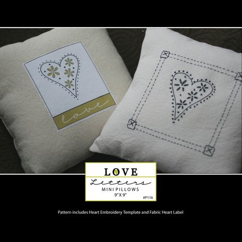 Tn_love letters mini pillows