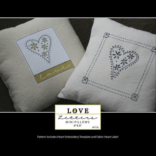 Tn_love letters mini pillows
